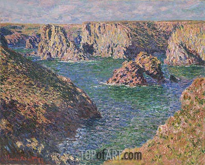 Port-Domois, Belle-Isle, 1887 | Monet | Painting Reproduction