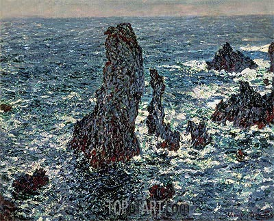 The 'Pyramids' of Port Coton, Belle Ile en Mer, 1886 | Monet | Painting Reproduction