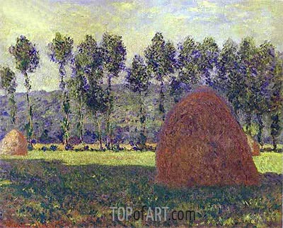 Haystacks at Giverny, c.1884/89 | Monet | Painting Reproduction