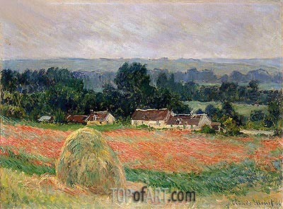 Haystack at Giverny, 1886 | Monet | Gemälde Reproduktion