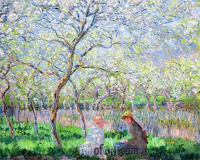 Springtime, 1886 | Monet | Painting Reproduction