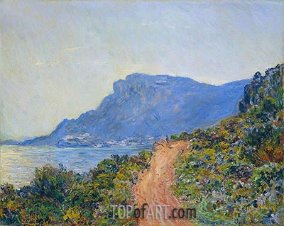 The Corniche near Monaco, 1884 | Monet | Gemälde Reproduktion