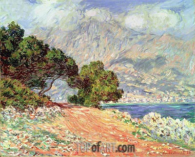Menton Seen from Cap Martin, 1884 | Monet | Painting Reproduction