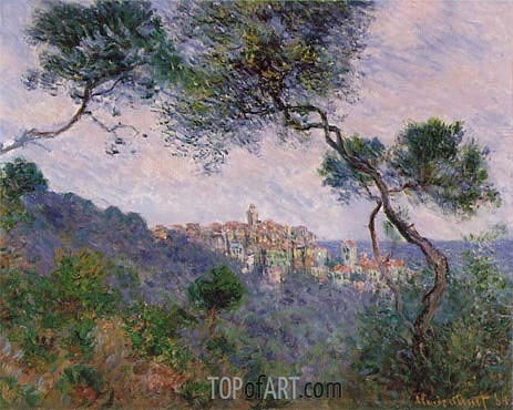 Bordighera, Italy, 1884 | Monet | Gemälde Reproduktion
