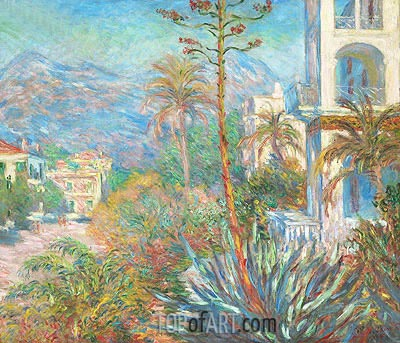 Villas at Bordighera, 1884 | Monet | Painting Reproduction