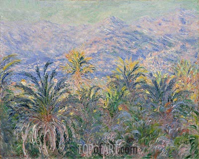 Palm Trees at Bordighera, 1884 | Monet | Gemälde Reproduktion