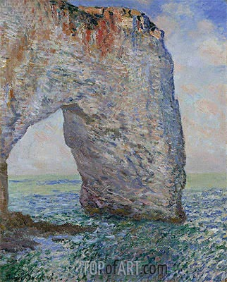 The Manneporte near Etretat, 1886 | Monet | Gemälde Reproduktion
