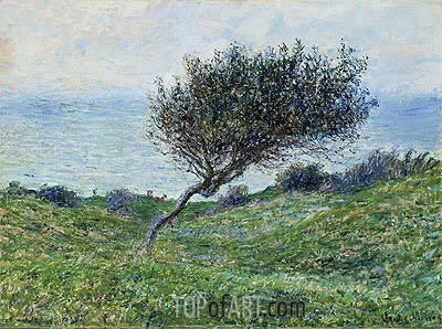 Sea Coast at Trouville, 1881 | Monet | Painting Reproduction