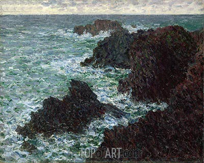 The Rocks at Belle-Ile, the Wild Coast, 1886 | Monet | Painting Reproduction