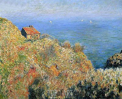The Fisherman's House at Varengeville, 1882 | Monet | Gemälde Reproduktion