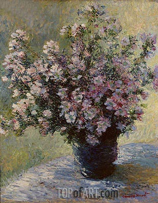 Bouquet of Mallows (Vase of Flowers), c.1881/82 | Monet | Gemälde Reproduktion