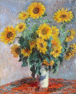 Bouquet of Sunflowers, 1881 | Monet | Painting Reproduction