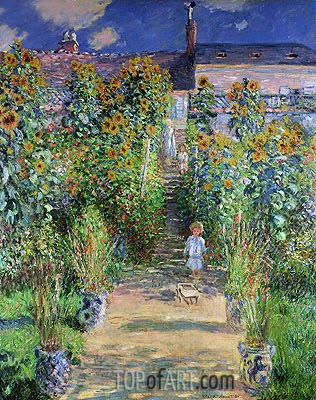 The Artist's Garden at Vetheuil, 1880 | Monet | Gemälde Reproduktion