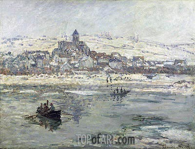 Vetheuil in Winter, c.1878/79 | Monet | Gemälde Reproduktion