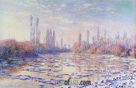 The Floating Ice, 1880 | Monet | Painting Reproduction