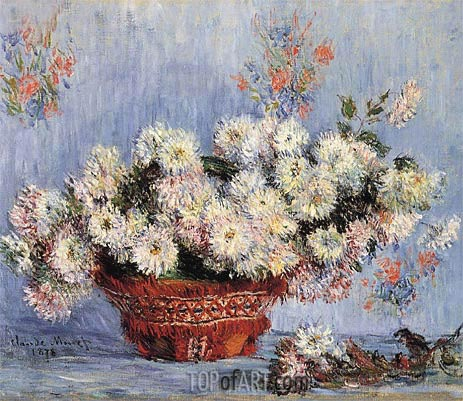 Chrysanthemums, 1878 | Monet | Gemälde Reproduktion