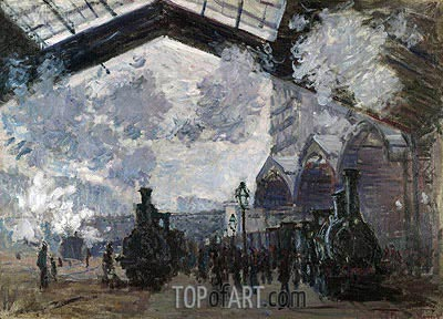 The Gare St-Lazare, 1877 | Monet | Painting Reproduction