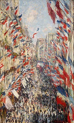 The Rue Montorgueil, Paris, Celebration of June 30, 1878 | Monet | Gemälde Reproduktion