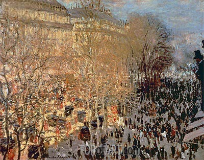 The Boulevard des Capucines, 1873 | Monet | Gemälde Reproduktion
