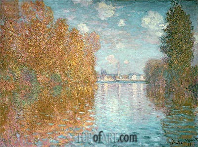 Autumn Effect at Argenteuil, 1873 | Monet | Gemälde Reproduktion