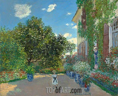 The Artist's House at Argenteuil, 1873 | Monet | Painting Reproduction