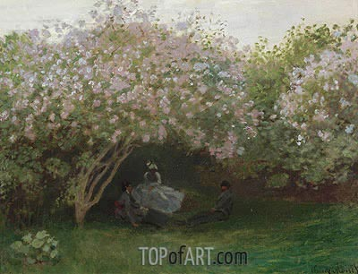 Lilacs, Grey Weather, c.1872/73  | Monet | Gemälde Reproduktion