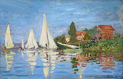 Regatta at Argenteuil, c.1872 | Monet | Painting Reproduction