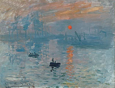 Impression, Sunrise (Soleil Levant), 1872 | Monet | Painting Reproduction