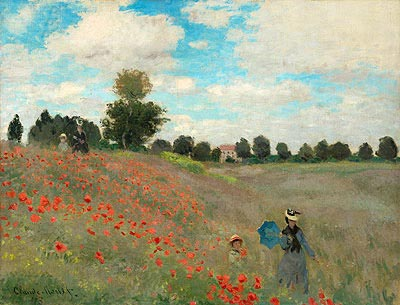Poppies at Argenteuil, 1873 | Monet | Painting Reproduction
