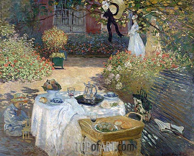 The Luncheon (Monet's Garden at Argenteuil), c.1873 | Monet | Gemälde Reproduktion