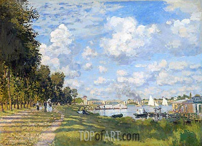 The Basin at Argenteuil, 1872 | Monet | Painting Reproduction