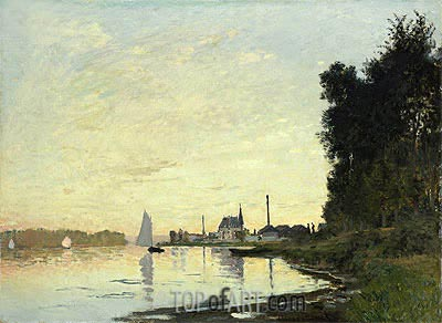 Argenteuil, Late Afternoon, 1872 | Monet | Gemälde Reproduktion