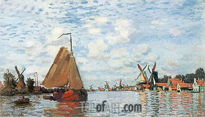 The Zaan at Zaandam, 1871 | Monet | Painting Reproduction