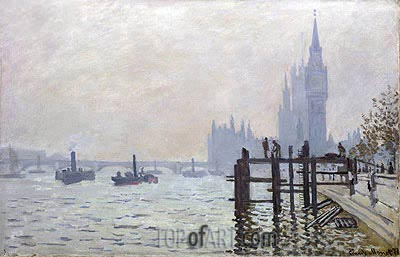 The Thames below Westminster, 1871 | Monet | Painting Reproduction