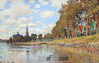 Zaandam, Holland, 1871 | Monet | Painting Reproduction