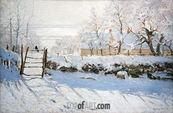 The Magpie, 1869 | Monet | Painting Reproduction
