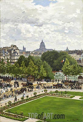 Garden of the Princess, Louvre, 1867 | Monet | Painting Reproduction