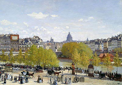 The Quai du Louvre, c.1866/67 | Monet | Painting Reproduction