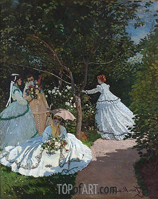 Women in the Garden, 1866 | Monet | Gemälde Reproduktion