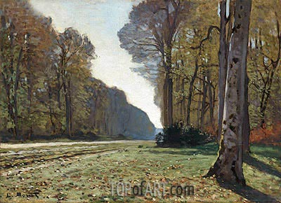 Le Pave de Chailly (The Road to Bas-Breau, Fontainebleau), 1865 | Monet | Gemälde Reproduktion