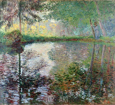 Pond at Montgeron, c.1876 | Monet | Painting Reproduction