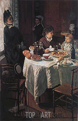 The Luncheon, 1868 | Monet | Painting Reproduction