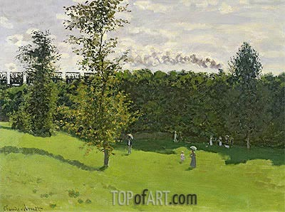 Train in the Countryside, c.1870/71 | Monet | Gemälde Reproduktion