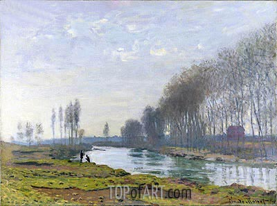 The Petit Bras of the Seine at Argenteuil, 1872 | Monet | Gemälde Reproduktion