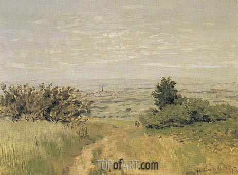 View of the Argenteuil Plain from San nois Hills, 1872 | Monet | Gemälde Reproduktion