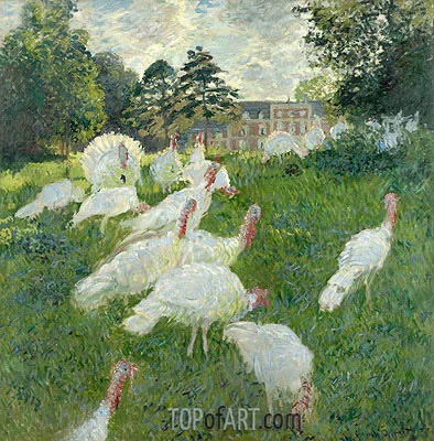 The Turkeys, 1877 | Monet | Gemälde Reproduktion