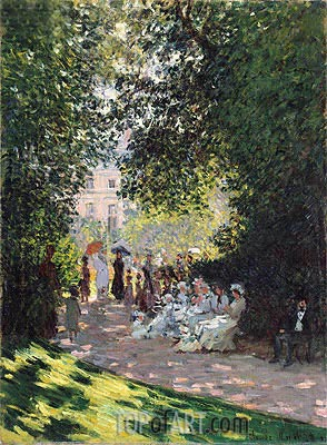 The Parc Monceau, 1878 | Monet | Painting Reproduction
