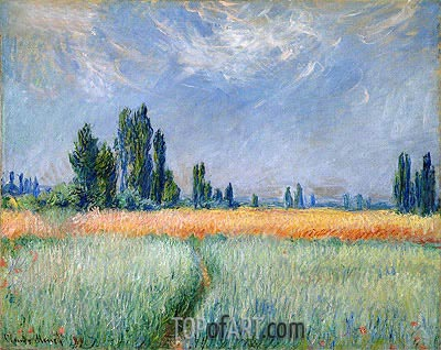 Wheat Field, Corn, 1881 | Monet | Painting Reproduction