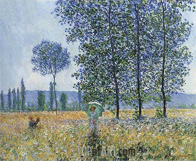 Under the Poplars, Sunlight Effect, 1887   Monet   Painting Reproduction