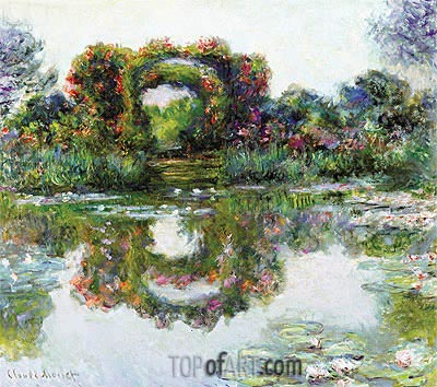Flowered Arches at Giverny (Rose Covered Pergola), 1913 | Monet | Painting Reproduction